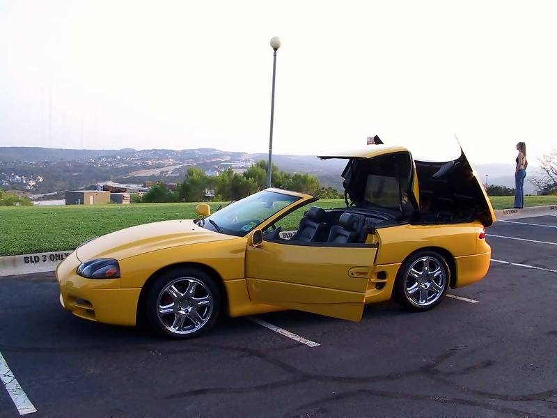 This is my new 1995 Mitsubishi 3000GT VR4 Spyder Hardtop Convertible.